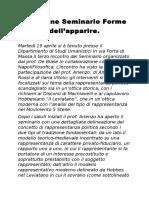 Relazione Seminario Forme Dell