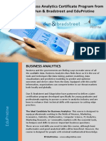 Business Analytics Brochure