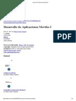 Desarrollo de Aplicaciones Moviles fdgdg f