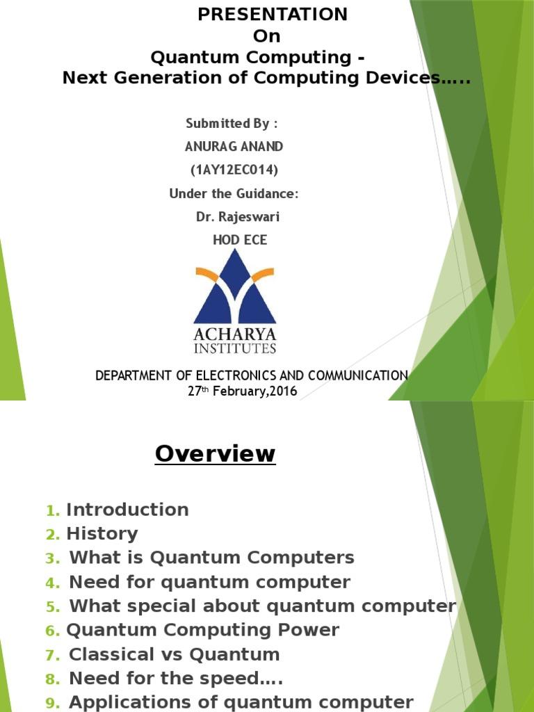 Quantum Computer Power - Quantum Computing