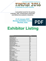 Paintindia 2016 Exhibitor List