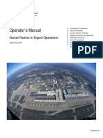 FAA (2007) Human Factors Manual for Airport Operations