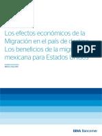 Los efectos económicos de la migración en el país de destino