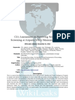 WikiLeaks CIA Assessment on Surviving Secondary Screening