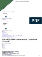 Manual 2014-I 01 Arquitectura Del Computador (1354) tware f dfjds jklfskl djlkj kdfsj