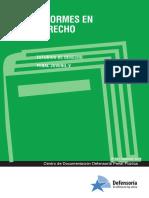 Informe en Derecho DPP. Estudios de Derecho Penal Juvenil Tomo V