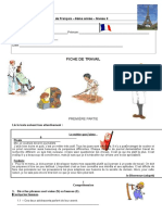 Fiche de Travail de Français 9ÈME - Aula de Substituição de 29 Set 09