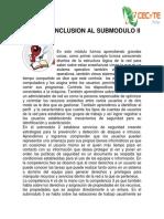 Conclusion Al Modulo II