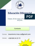 Clase N° 1 -Educación Diferencial - 2016
