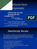 Anestezia locoregionala