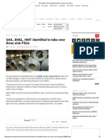 SAIL, BHEL, HMT Identified to Take Over Three Sick PSUs