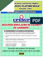 II Simulacro 2016 - Examen
