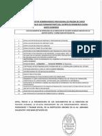Requisito Nombramiento Provisional de Prueba