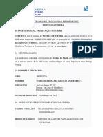 Certificado de Pozo a Tierra Imprenta