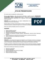 CARTA DE PRESENTACION 2008