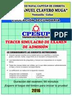 III Simulacro 2016 - Examen