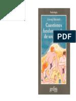 Simmel Georg Cuestiones Fundamentales de Sociologia 1917
