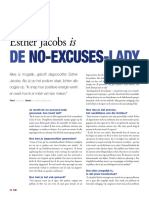 Esther Jacobs is de No Excuses Lady