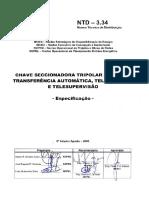 Ntd 3.34 - Chave Seccionadora Tripolar a Sf6 Com Transferncia Automtica