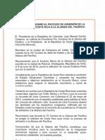 Declaración Costa Rica | Alianza del Pacífico