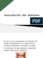 Auscultación del abdomen...