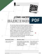 como hacer ajedrez de Madera y Pvc