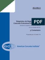 ACI 318  - 11 Spain Sistema Metrico