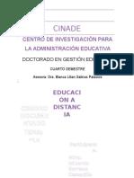 Cuadro Documentado La Educación a Distancia