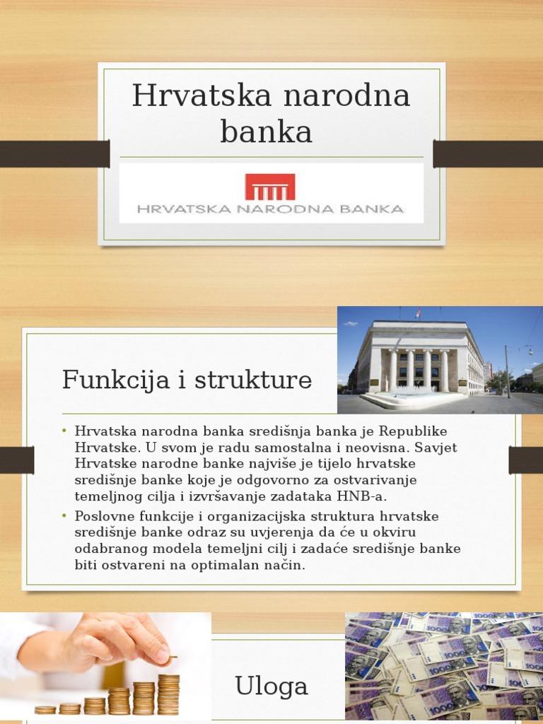 Pristupni Rad Hrvatska Narodna Banka