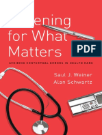Listening for What Matters by Saul J. Weiner & Alan Schwartz [Dr.soc]