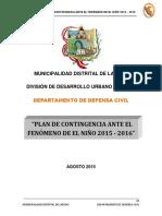 Plan de Contingencia El Niño Municipalidad Dsitrital de Laredo 2015 2016