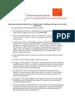 10-04-22 Fine v Sheriff (09-A827) at the US Supreme Court - Dr Zernik's Declaration RE