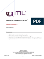 ITIL Foundation Sample B_v5.1_Spanish (Latin American)