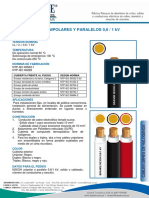 N2XOH Unipolares y Paparelos 0 6-1 Kv
