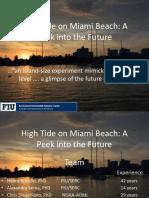 Miami Beach - FIU  - King Tide Day Experiment Update