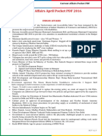 Current Affairs Pocket PDF - April 2016 by AffairsCloud