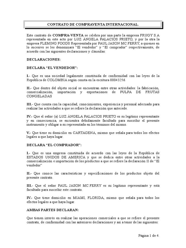 Excepcional Plantilla De Acuerdo De Compra De Venta Friso - Ejemplo ...