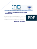 Welcome to the EuCNC 3rd Newsletter