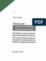 Theorie der Attentivität. Grünbaums phänomenologische Bewußtseinstheorie