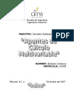 Apuntes de Cálculo Multivariable (Apuntes)-- Word 97-2003