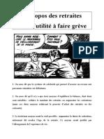A Propos Des Retraites Et De LUtilite A Faire Greve