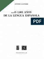 Los 1001 de La Lengua Española ALATORRE