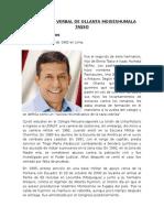 Analisis No Verbal de Ollanta Moiséshumala Tasso