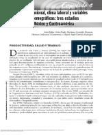 Clima y Ambiente Organizacional Trabajo Salud y Factores Psicosociales