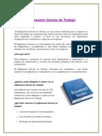Reglamento InterReglamento Interno de Trabajono de Trabajo