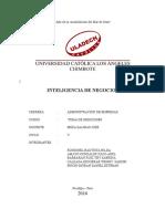 Monografia Inteligencia de Negocios
