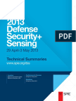 2013 Defense Security + Sensing Technical Summaries