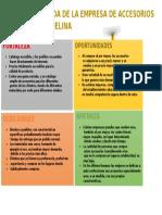 Análisis de Foda de La Empresa de Accesorios Dina Melina