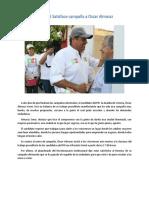 30.05.16 Satisface Campaña a Oscar Almaraz