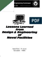 Lesson Learned From DesiLesson Learned from Design & Engineeringgn & Engineering of Naval Facilities
